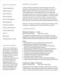 Supply Chain Project Manager Resume by It Project Manager Resume Sample Project Manager Cv Example 7