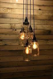 5 Jar Chandelier Hanging Pendant Lights Interesting Hanging Pendant Light 5 Jar