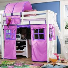 Purple Bunk Beds Loft Bed Tent Loft Bed Tent To Sleep And Play Modern Loft