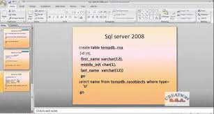 introduction to sql server 2008 temp tables local global