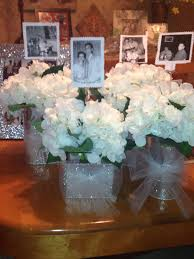 60th anniversary party idea for table centerpiece put a picture of