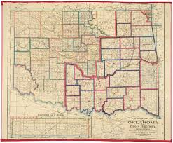 Marian University Map Survey Map Of The Oklahoma And Indian Territory Showing Distances