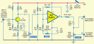 electric guitar preamplifier circuits projects