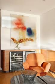 Orange Sofa Living Room by Luxurious Bellevue Hill House Interior Design In Sydney Hupehome