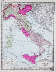 Map Of Italy by Map Of Italy 1914
