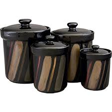 kitchen canisters black kitchen canisters sets black amazon com