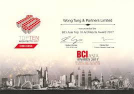 awarded top 10 architects 2017wong tung awarded bci asia top 10