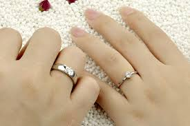 couple rings silver images 2015 fashion wedding couple silver jewelry rings wholesale rhodium jpg