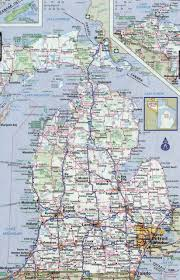 Map States Usa by Large Detailed Roads And Highways Map Of Michigan State With All
