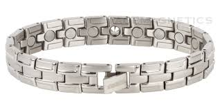bracelet magnetic stainless steel images 40cg quot silver streak stainless steel quot magnetic bracelet negative gif