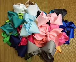 back to school hair bows 8 large girl bows big bows hairbows birthday gift for