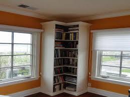 tall corner bookcase the amazing of corner bookshelf ideas