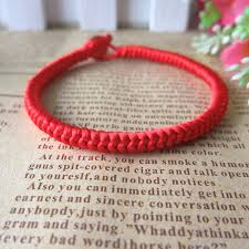 knot rope bracelet images Lucky red rope bracelet chinese knot handmade bangle 0 5cm thick jpg