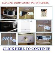 General Electric Dishwasher Electric Dishwasher Potscrubber General Electric Dishwasher