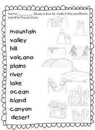 third grade geography worksheets worksheets