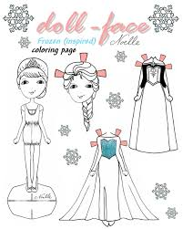 elsa dress coloring page kids drawing and coloring pages marisa