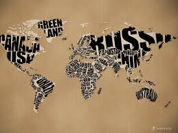 World Map Rug by Typographic Love This Map I Want To Make It A Rug And Walk The