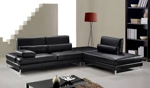 modern black leather sectional sofa ideas s3net sectional