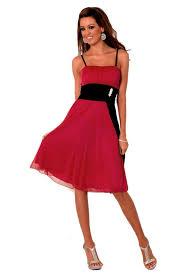 empire contrast color spaghetti strap party prom dress h1254 red