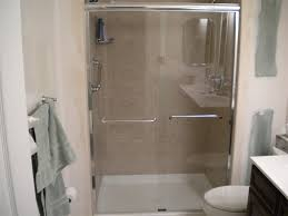 stall shower with frameless shower doors