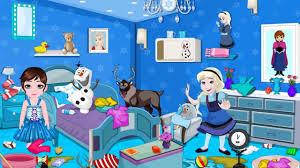 frozen babies room cleaning disney princess frozen game for