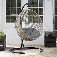 Swing Patio Furniture Amazon Com Modway Encase Rattan Outdoor Patio Swing Chair