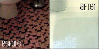 How To Paint Old Bathroom Tile - powder room