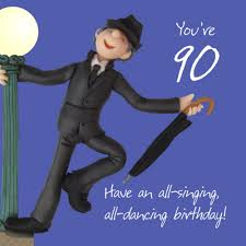 90th birthday male greeting card one lump or two range cards