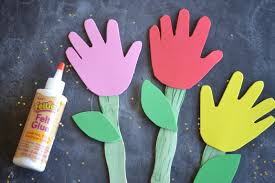 diy bookmarks for kids with handprint flowers darice