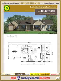 dillworth modular home ranch plan direct priced from all american