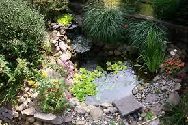 attractive garden design with pond