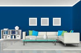 white and blue living room interior design