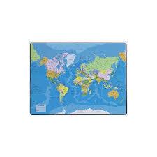 dessous de bureau esselte sous carte du monde dimensions 41 x 54 cm 32188