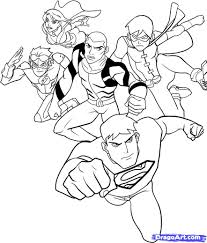 young justice coloring pages nimcube