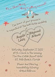 unique wedding invitation wording sles wedding invitation with hearts in sand seagulls and