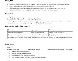 resume resume example server resume objective examples good