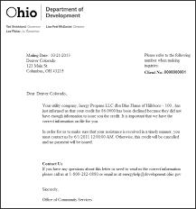 vendor reject letter