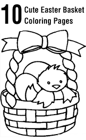 empty easter basket coloring page u2013 happy easter 2017