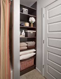 Shelving Ideas For Small Bathrooms by Bathroom Closet Organization Special Spaces Organizers Direct