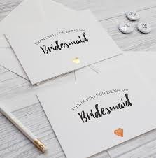 bridesmaid invitations uk bridesmaid thank you card gold heart loveli
