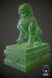 jade lion statue artstation jade shishi lion guardian statue alan mitchell