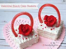 valentines baskets snack cake baskets party pinching