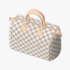 the new and speedy 3d louis vuitton speedy bag checker 3d model cgtrader
