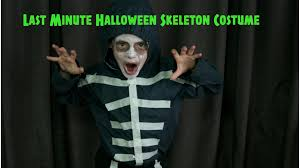 skeleton costume halloween city last minute diy halloween skeleton costume youtube