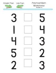 greater than less than worksheet for kindergarten preschool kindergarten math greater than less than worksheets