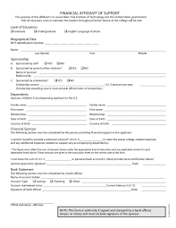 Child Support Contract Template 48 Sample Affidavit Forms U0026 Templates Affidavit Of Support Form