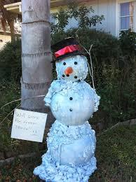 melting florida snowman decoration 5 steps