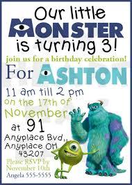 monsters birthday custom digital invitation heart