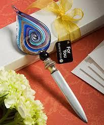 letter opener favors murano glass collection letter opener favors multi