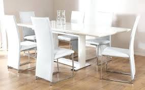 High Gloss Extending Dining Table Park Extending Glass Table White Matte White Extending Console